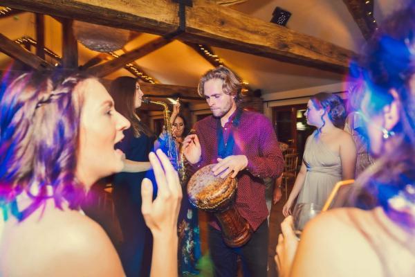 Bong and sax for wedding